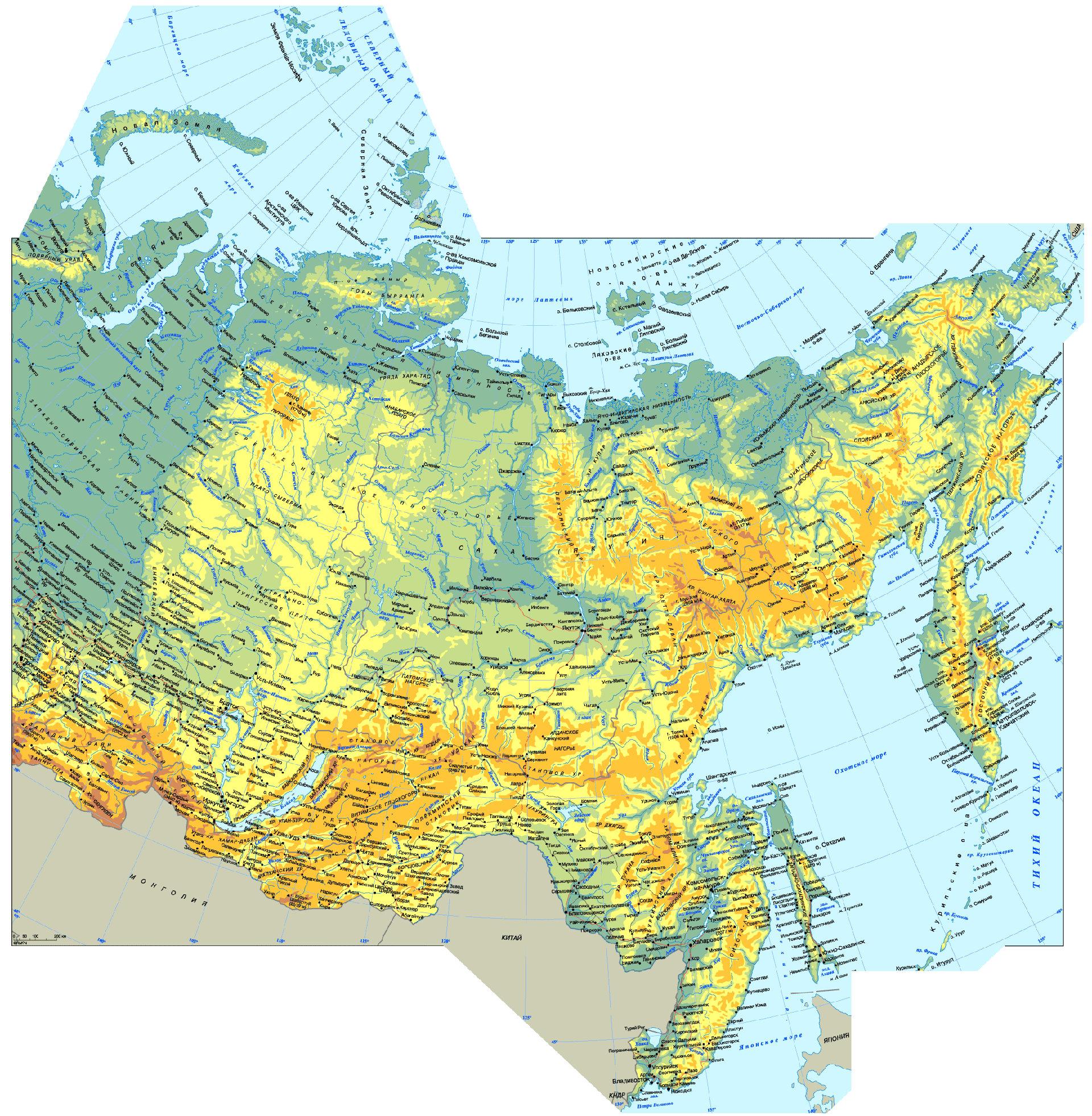 географическая карта России