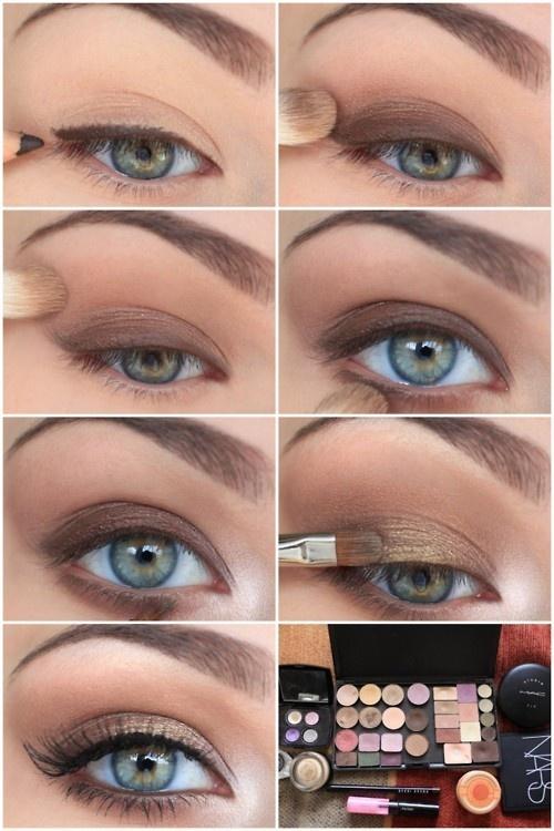 Повседневный макияж для синих глаз фото