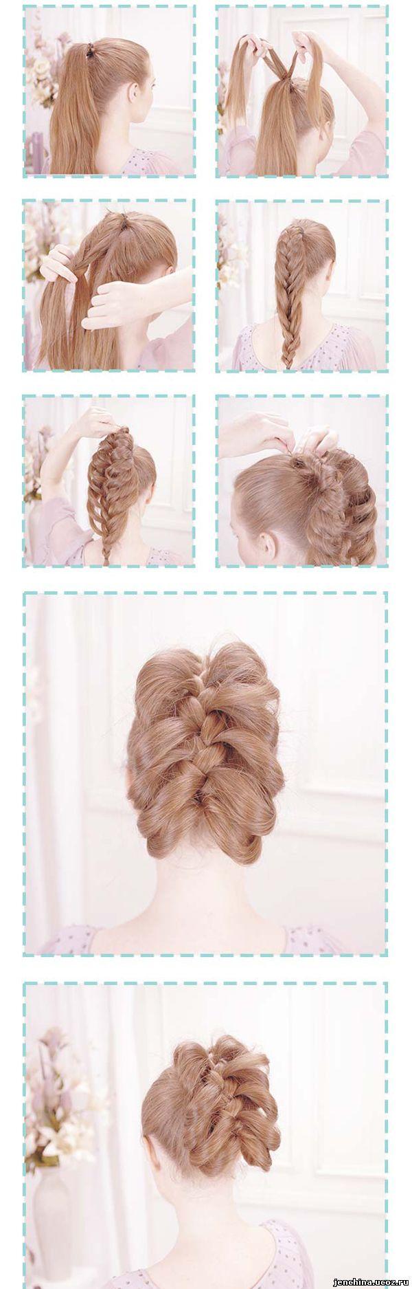 Прически коса длинные волосы в домашних условиях