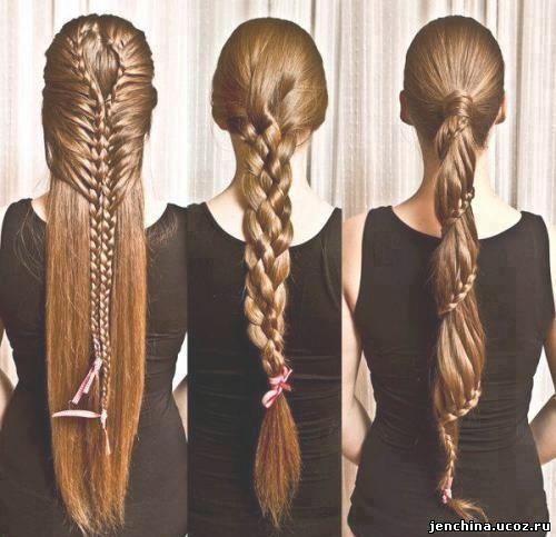 косы и плетения прически на длинные волосы
