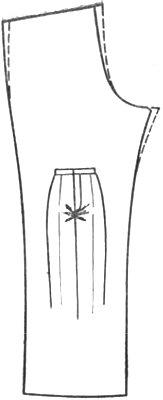 горизонтальные складки под бантом брюк
