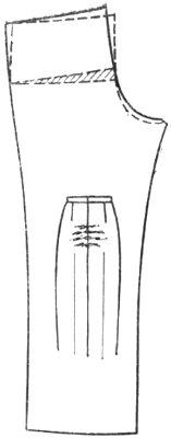 горизонтальные складки по среднему шву брюк