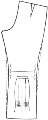 горизонтальные складки в нижней части брюк