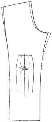 горизонтальные складки в верхней шаговой части брюк